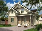 Проект небольшого уютного одноэтажного дома с мансардой